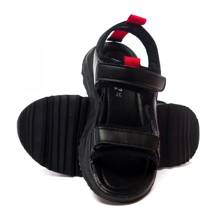Босоножки Fashion L5656 черн/крас (36-41)