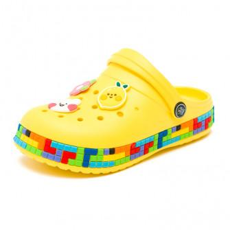 Шлёпки кроксы Fashion 6053 желт (30-35)