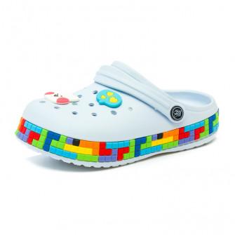 Шлёпки кроксы Fashion 6035 голуб (24-29)