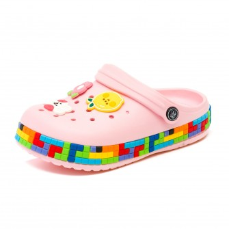 Шлёпки кроксы Fashion 6053 розов (30-35)