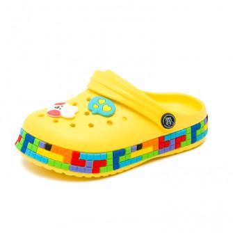 Шлёпки кроксы Fashion 6035 желт (24-29)