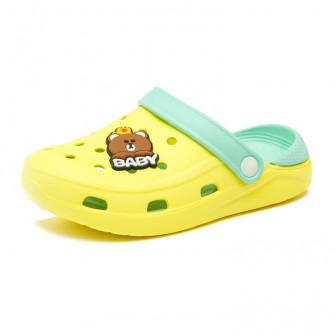 Шлёпки кроксы Fashion Baby желтый (19-22)