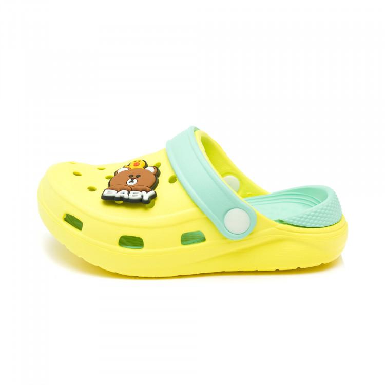 Шлёпки кроксы Fashion Baby желт (15-18)