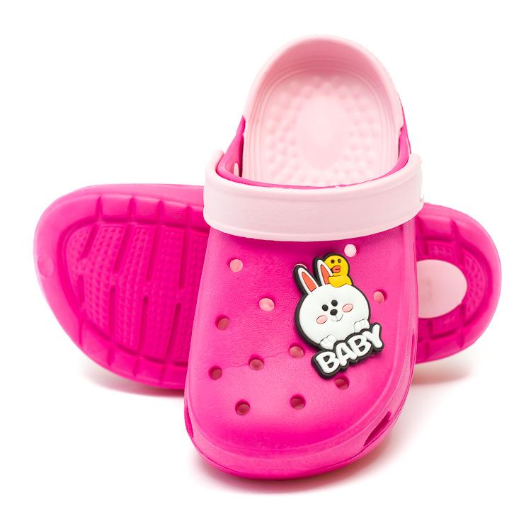 Шлёпки кроксы Fashion Baby малинов (14-18)