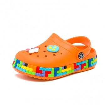 Шлёпки кроксы Fashion 6035 оранж (24-29)