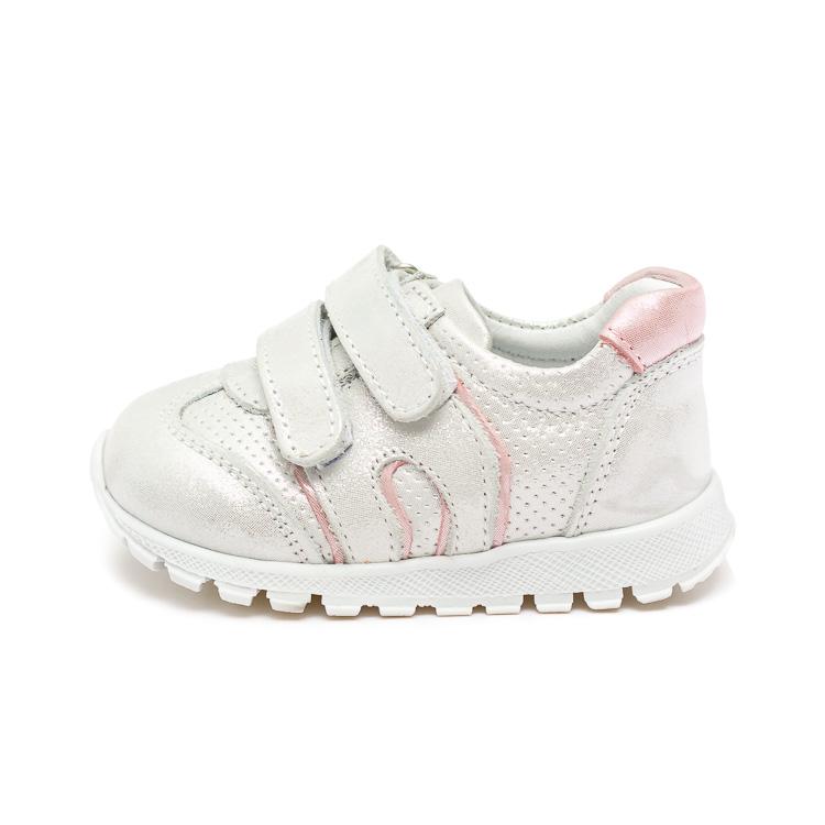 Кроссовки Sibel Bebe серебристо-розовые для девочки