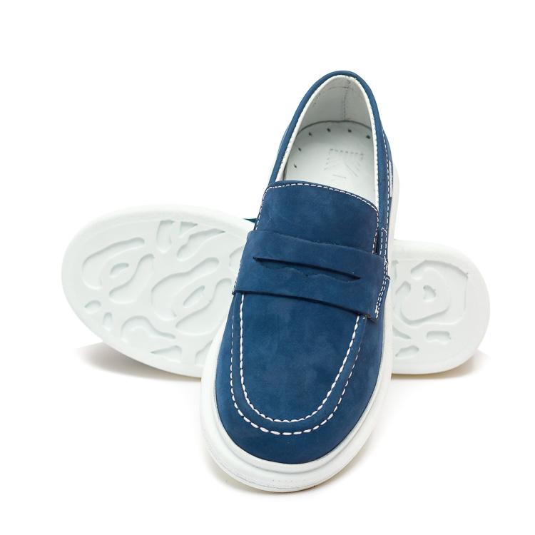Мокасины КалориЯ синие для мальчика