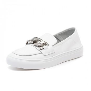 Мокасины Fashion белые для девочки и для мальчика