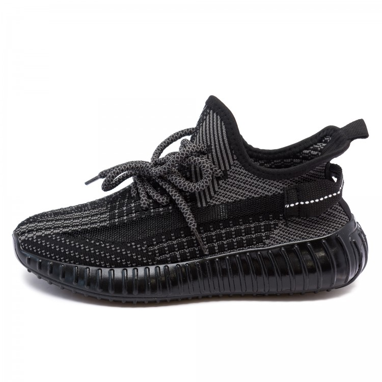 Кроссовки Fashion чёрные для девочки и для мальчика