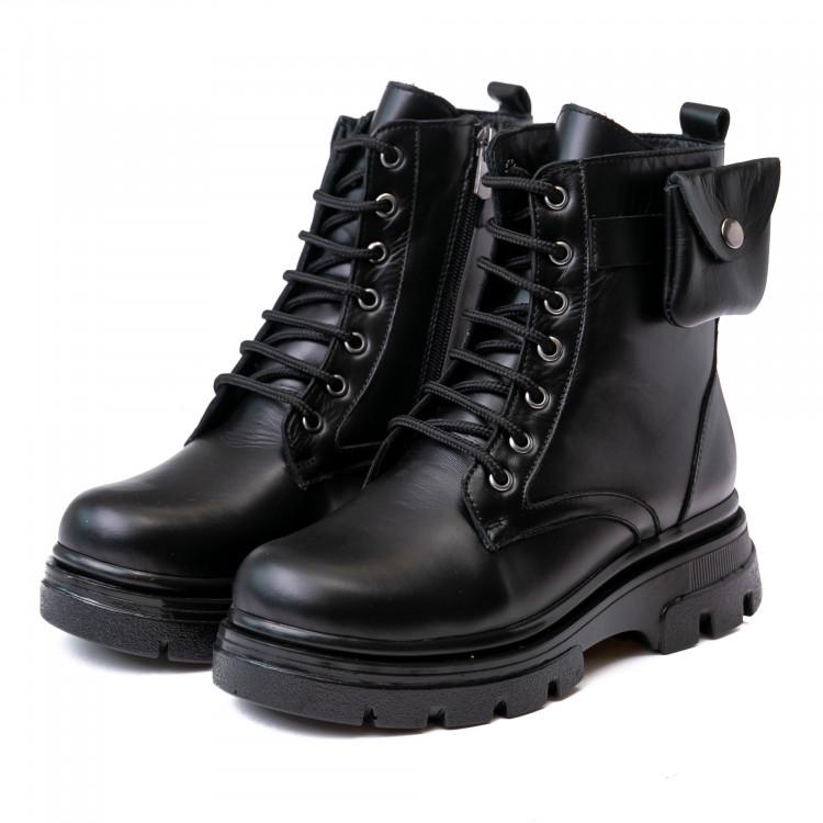 Ботинки зимние КалориЯ чёрные