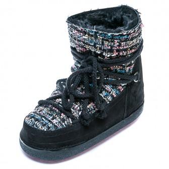 Зимние ботинки Cool Moon 251008 чёрный нубук цветн. (36-41)