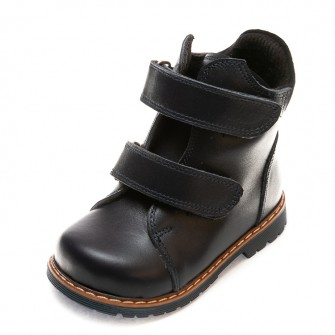 Ботинки д/с Panda 075B(5)черн. кожа (21-25)