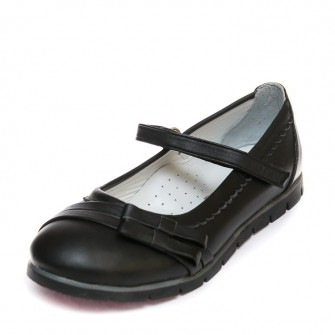 Туфли Sibel Bebe T707 чёрн 2бантика