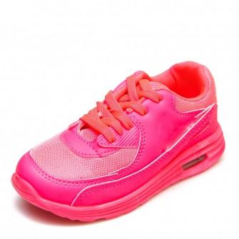 Кроссовки розовые шнурок (21-25)