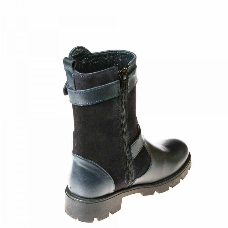 Зимние сапоги Minibel T580(33-120)синяя кожа (32-37)