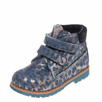 Ботинки зима 9005(387)синий леопард (21-25)