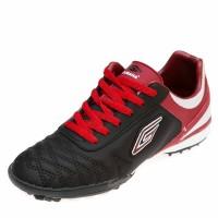 Кроссовки 1602 чёрно\красные с белой полоской (36-39)