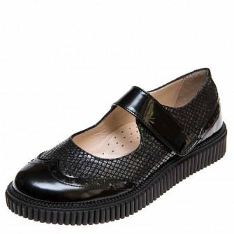 Туфли Panda 0251001(14) чёрный лак (31-36)