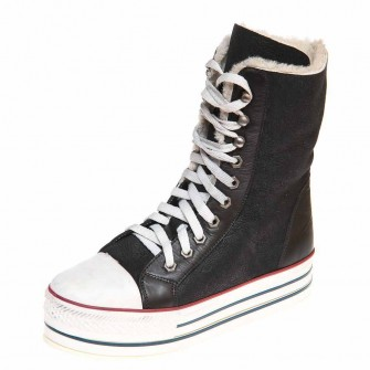 Pegas зима ботинки 4815 чёрная дубл.