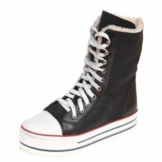 Зимние ботинки Pegia 4815 чёрная дубл.