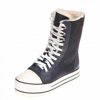 Зимние ботинки Pegia 4815 синяя дубл.