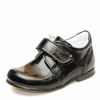 Туфли Sibel Bebe 1126 чёрные лак (19-21)