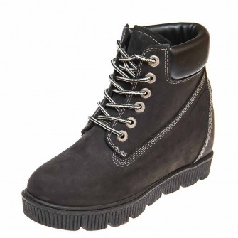 Pegas зима ботинки Fellini чёрный нубук