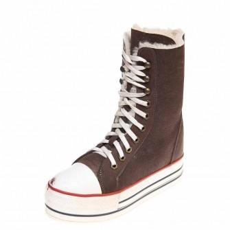 Зимние ботинки Pegia 4815 шоколадная дубл.