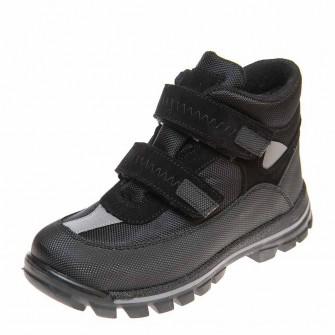 Термо ботинки зима 330(607)чёрные корот