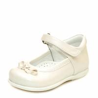 Туфли Sibel Bebe 1122 перламутровая кожа бежевые (18-21)