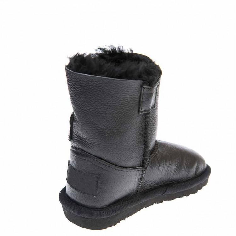Угги Ankara 131202(2002)1пуг чёрная кожа