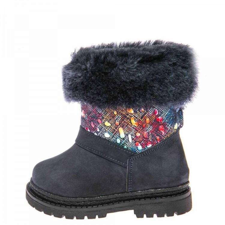 Зимние ботинки Panda 1300(37-210) синие/цвет