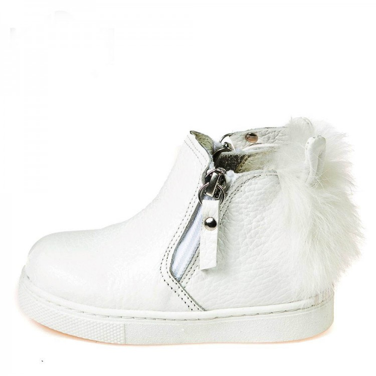 Зимние ботинки Minibel T544(147)белая кожа