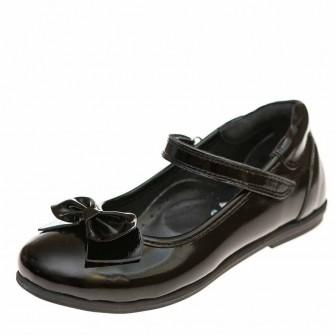 Туфли Panda 03660(51) чёрные лак бантик (31-36)
