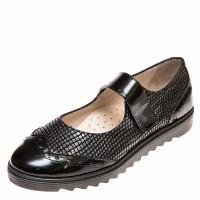 Туфли Panda 025907(14) чёрные со вставкой (31-36)