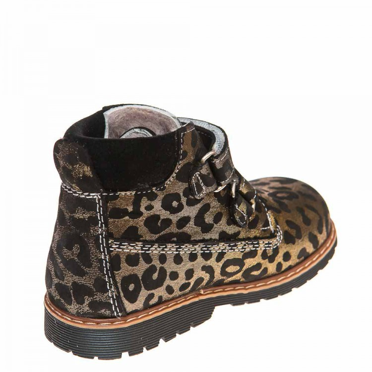 Зимние ботинки Panda 9005(386)леопард золото (21-25)