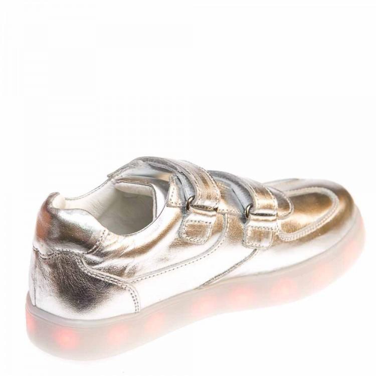 Кроссовки LED OCAK 102(04)серебро