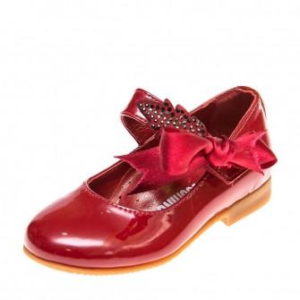 Туфли T58(22-1)M красный лак (21-25)