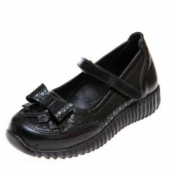 Туфли 02444(771)чёрные с узором (28-30)