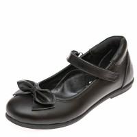 Туфли 03660(50)чёрная кожа  бантик (37-39)