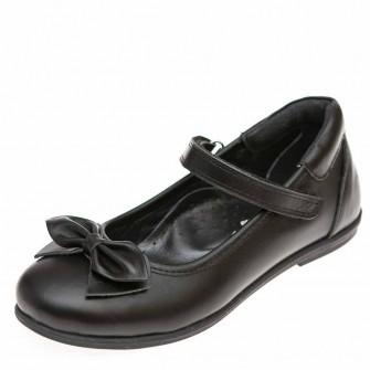 Туфли Panda 03660(50)чёрная кожа бантик (37-39)