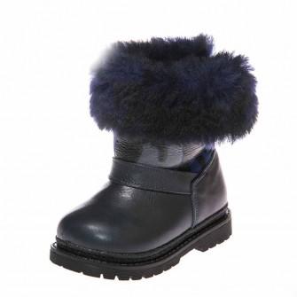 Ботинки зима 1300(32) синие синий мех