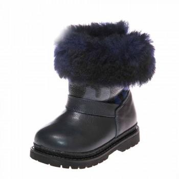 Зимние ботинки Panda 1300(32) синие синий мех