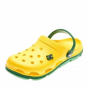 Шлёпки кроксы 116104 жёлто/зелён
