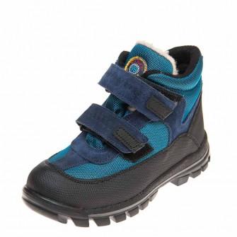 Термо ботинки зима 330(601)синие корот (26-30)