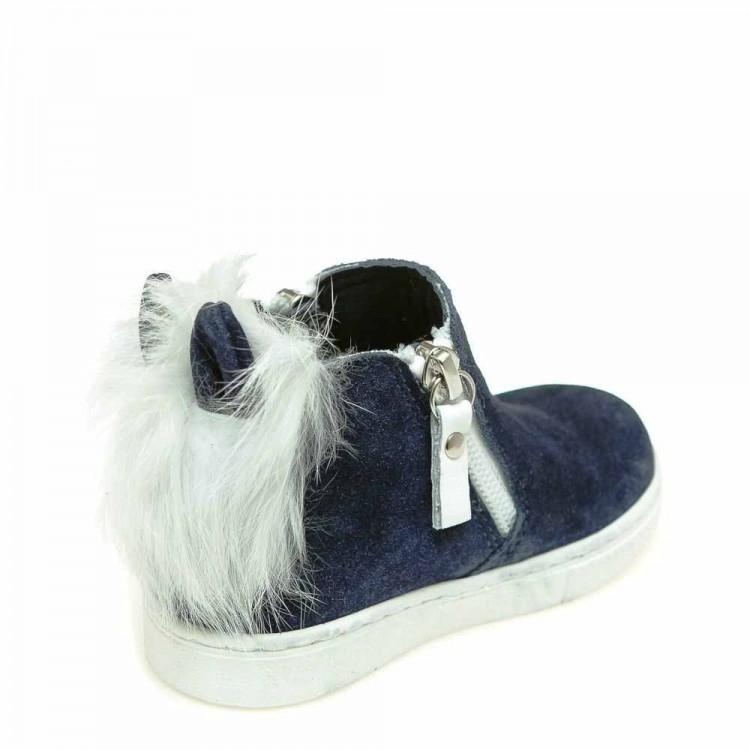 Зимние ботинки Minibel T544(0354)синяя замша