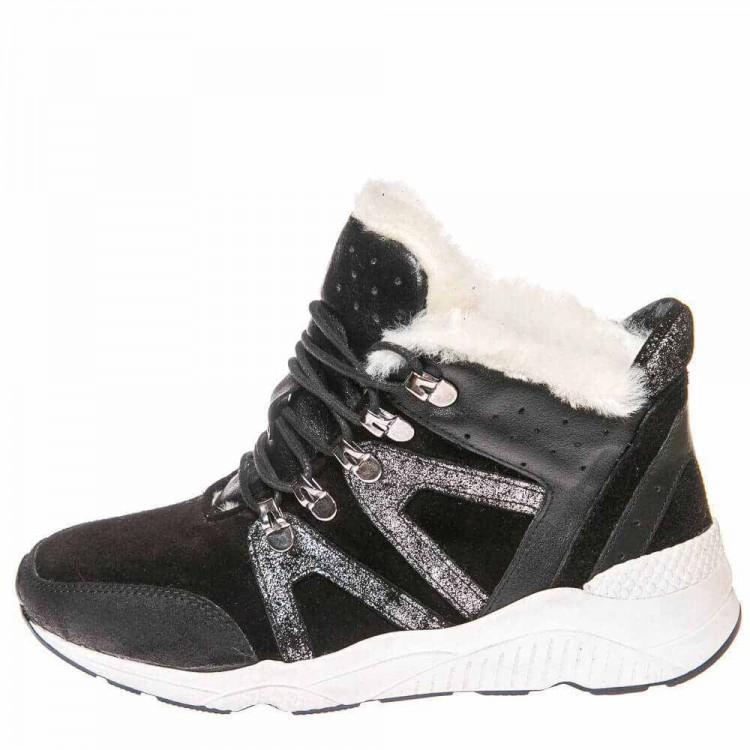 Зимние ботинки Cool Moon 157403 чёрные (36-41)