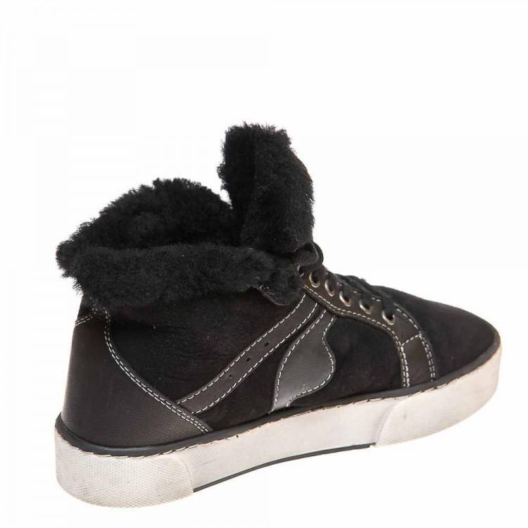 Зимние ботинки Pegia 4825 чёрная замша