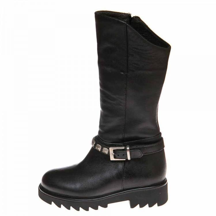 Зимние сапоги Minibel Т499(27)PR чёрная кожа