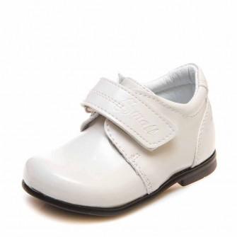 Туфли 1127 бежевые лак (19-21)